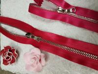 Молния riri атлас. никель,неразъем., 1замок 4мм,16см, тип подвески FLASH, цвет цепи Ni, цвет ярко-красный