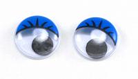 Глаза круглые синие с бегающими зрачками
