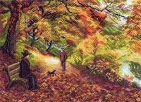 "Рисунок на канве 37х49см арт.1411 ""Встреча"""