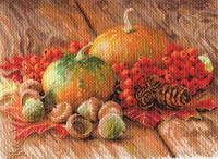 """Рисунок на канве 37х49см арт.1754 """"Дачный сезон"""""""