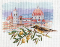 "Рисунок на канве 37х49см арт.1697 ""Под солнцем Тосканы"""