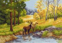 "Рисунок на канве 37х49см арт.1233 ""Осенний день"""