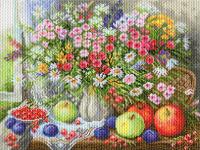 """Рисунок на канве 37х49см арт.1745 """"Дары лета"""""""