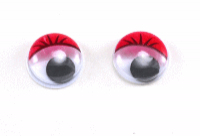 Глаза круглые красные с бегающими зрачками