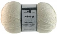 Пряжа Admiral, 100 гр., цвет 980 молочный
