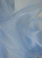 Органза небесно-голубая