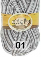 Adelia «MIA PRINT» №  01 белый-серый