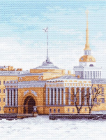 "Рисунок на канве 37х49см арт.1151 ""Набережная Санкт-Петербурга"""