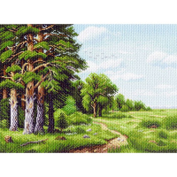 "Рисунок на канве 37х49см арт.1145 ""Лесная окраина"""