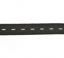 Резинка перфорированная черная, 20 мм