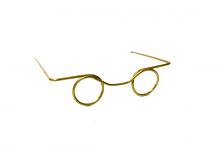 Очки без стекла металлические золото 2 шт в упак.