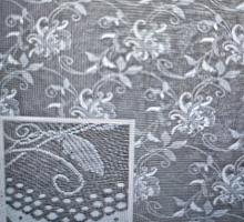 Тюль жаккардовый, белый, выс.120 (цена за 1м)