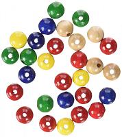 БУСИНЫ ДЕРЕВЯННЫЕ, 4 ММ разноцветные