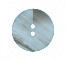 Пуговица голубая 15 мм