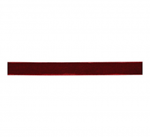 Лента бархатная 6 мм, бордо