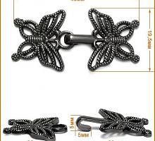 Крючок Бабочка черный никель