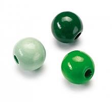 БУСИНЫ ДЕРЕВЯННЫЕ, 4 ММ разноцветные зеленые