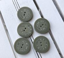 Пуговица зелёная 25 мм