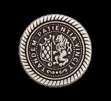 Пуговица металл 23мм античное серебро