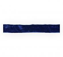 Лента бархатная 12 мм, темно-синяя