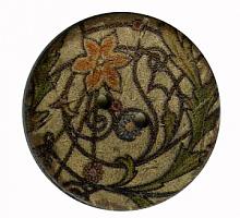 Пуговица на прокол кокос с дизайном, 30 мм