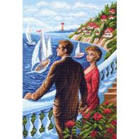 """Рисунок на канве 37х49см арт.1435 """"Счастливы вместе"""""""