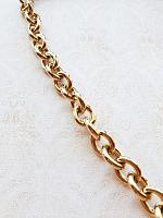 Цепь декоративная золото, звено 22х19 мм.