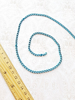 Цепь декоративная голубая, звено 6х4 мм.