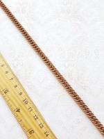 Цепь декоративная бронза, ширина 8 мм.