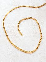 Цепь декоративная золото, звено 6х4 мм.