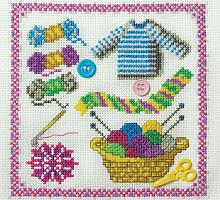 """Набор для вышивания """"Вязание"""""""