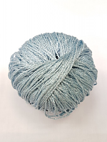 Пряжа GATSBY, цвет 22 светло-голубой с серебром