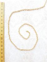 Цепь декоративная золото, звено 3х5 мм.