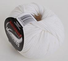 Пряжа Austermann-Merino-105-0301 белый
