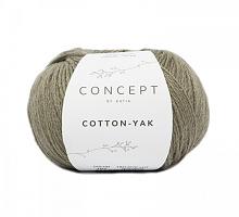 Пряжа Cotton-Yak (Коттон-Як), цвет 107 светлое хаки