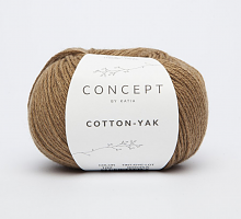 Пряжа Cotton-Yak (Коттон-Як), цвет 102 каштан