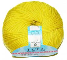 Пряжа Фулл (Full), цвет 7828 желтый