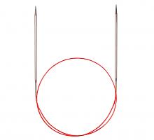 Спицы никелированные круговые с удлиненным кончиком, №2,25, 60 см