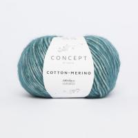 Пряжа Cotton-Merino, цвет 126 сине-зеленый