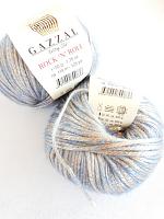 Пряжа ROCK'N`ROLL (Рок-н-Ролл), цвет 13478 золотисто-голубой