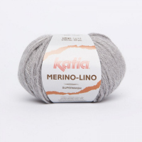 Пряжа Merino-Lino, цвет 504 жемчужно-серый