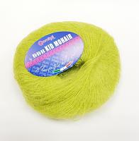 Пряжа Kid Mohair (Кид мохер) цвет 0121 салатовый