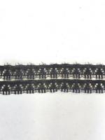 Кружево синтетическое черное 10м