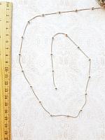 Цепь декоративная с шариками серебро, ширина 2 мм.