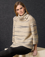 Пряжа Cotton-Merino Plus (Коттон-Мерино плюс), цвет 200 бежево/серый