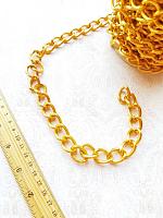 Цепь декоративная золото, звено 22х15 мм.