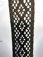 Кружево вязаное черное прошва