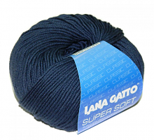 Пряжа Суперсофт (SUPERSOFT), цвет 13607 темно-джинсовый