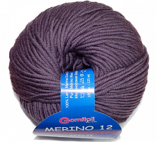 Пряжа Мерино-12 0010 фиолетовая пастель