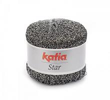 Пряжа Star цвет 500 черно-серебряная